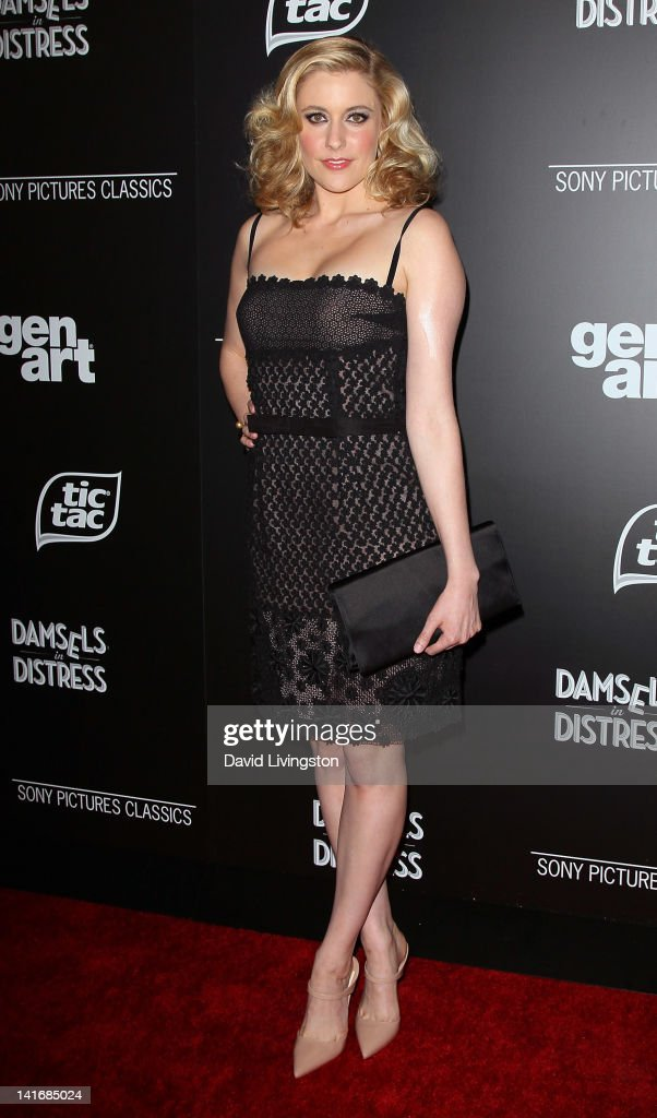 Actress <a gi-track='captionPersonalityLinkClicked' href=/galleries/search?phrase=Greta+Gerwig&family=editorial&specificpeople=4249808 ng-click='$event.stopPropagation()'>Greta Gerwig</a> attends the premiere of Sony Pictures Classics' 'Damsels in Distress' at the Egyptian Theatre on March 21, 2012 in Hollywood, California.