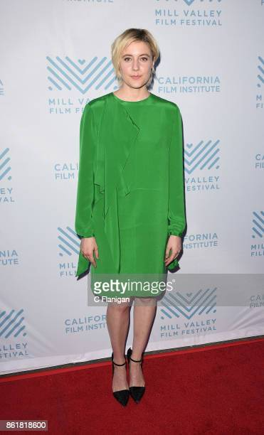 Actress Greta Gerwig attends the screening of 'Lady Bird' during the 40th Mill Valley Film Festival at Outdoor Art Club on October 15 2017 in Mill...