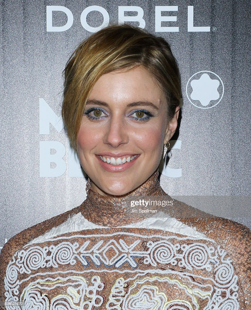Actress <a gi-track='captionPersonalityLinkClicked' href=/galleries/search?phrase=Greta+Gerwig&family=editorial&specificpeople=4249808 ng-click='$event.stopPropagation()'>Greta Gerwig</a> attends the screening of Sony Pictures Classics' 'Maggie's Plan' hosted by Montblanc and The Cinema Society with Mastro Dobel & Kim Crawford Wines at Landmark Sunshine Cinema on May 5, 2016 in New York City.