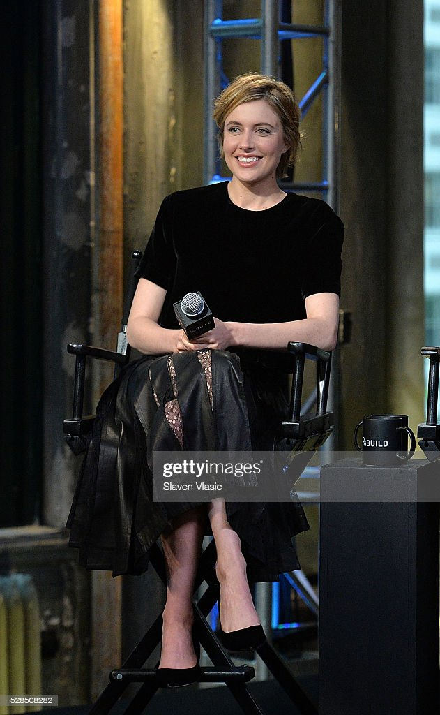 Actress Greta Gerwig discusses her new movie ''Maggies Plan' at AOL Build at AOL Studios In New York on May 5, 2016 in New York City.