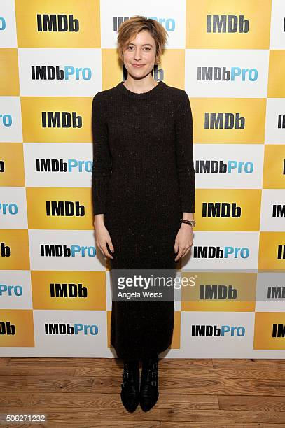Actress Greta Gerwig in The IMDb Studio In Park City Utah Day One Park City on January 22 2016 in Park City Utah