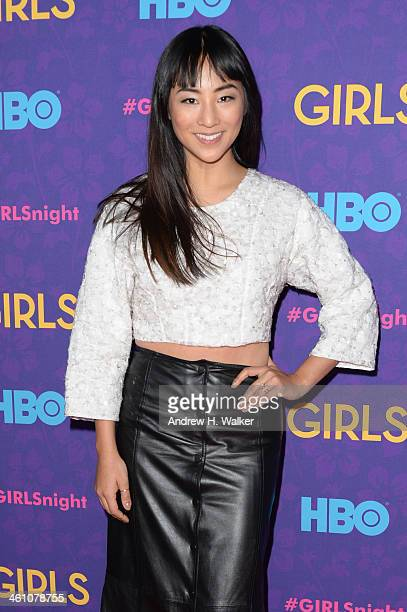 Actress Greta Lee attends the 'Girls' season three premiere at Jazz at Lincoln Center on January 6 2014 in New York City