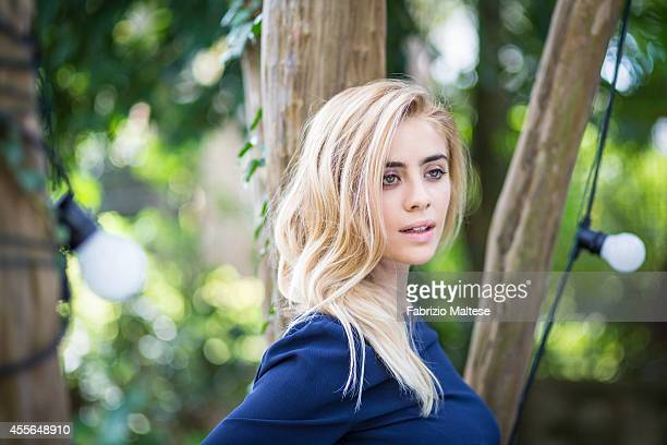 Actress Greta Scarano is photographed for Self Assignment on August 31 2014 in Venice Italy