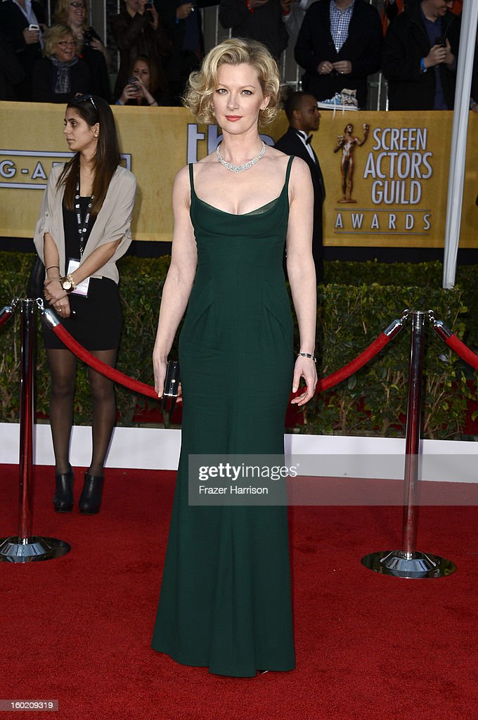 Actress Gretchen Mol arrives at the 19th Annual Screen Actors Guild Awards held at The Shrine Auditorium on January 27, 2013 in Los Angeles, California.