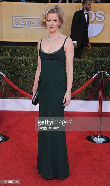 Actress Gretchen Mol arrives at the 19th Annual Screen Actors Guild Awards at The Shrine Auditorium on January 27 2013 in Los Angeles California