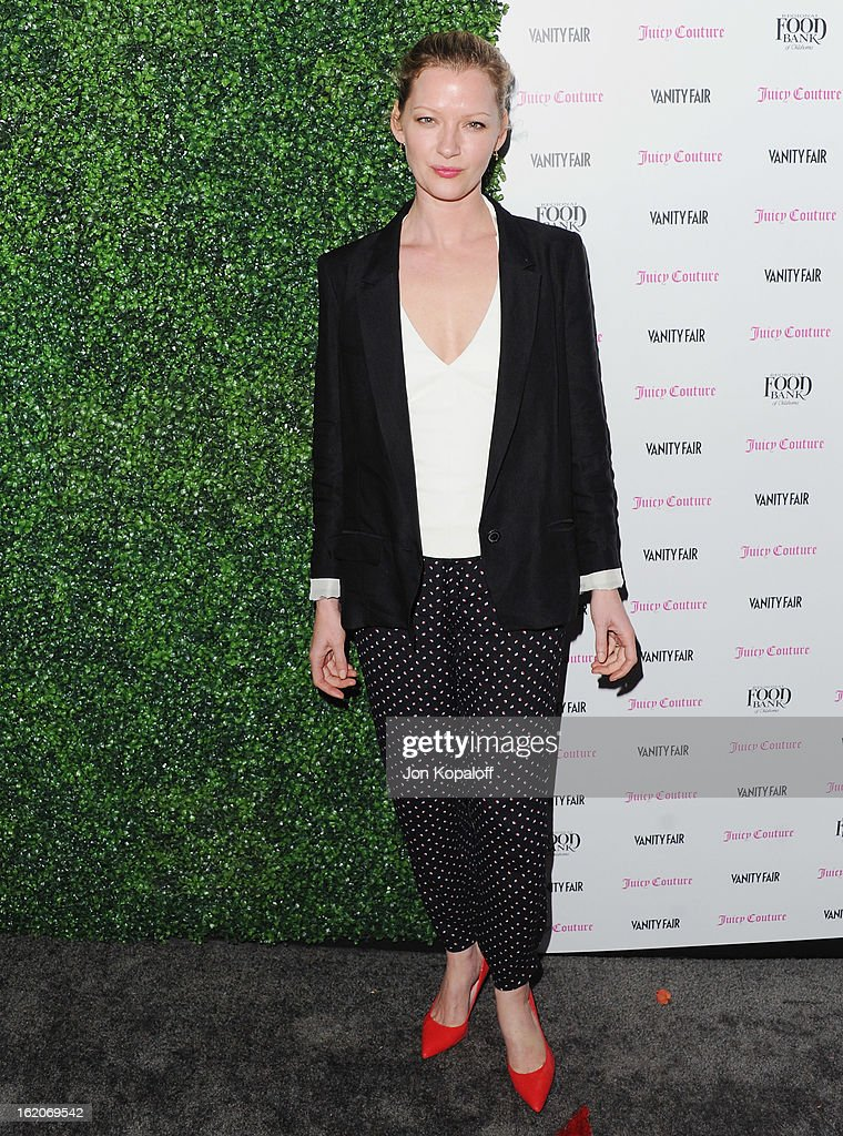 Actress Gretchen Mol arrives at the Vanity Fair And Juicy Couture Celebration Of The 2013 Vanities Calendar at Chateau Marmont on February 18, 2013 in Los Angeles, California.