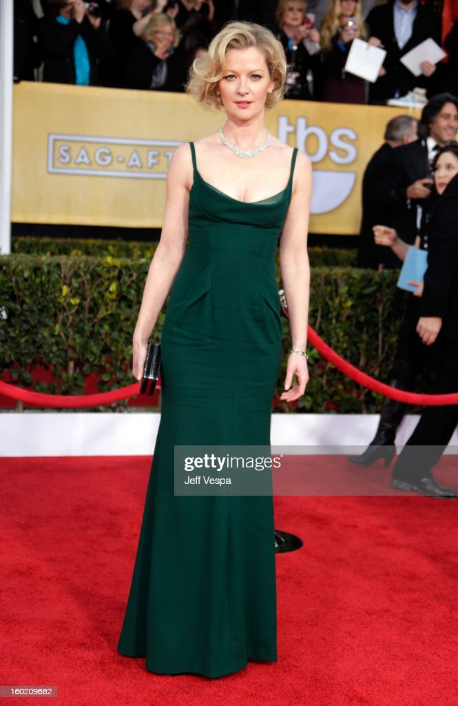 Actress Gretchen Mol arrives at the19th Annual Screen Actors Guild Awards held at The Shrine Auditorium on January 27, 2013 in Los Angeles, California.