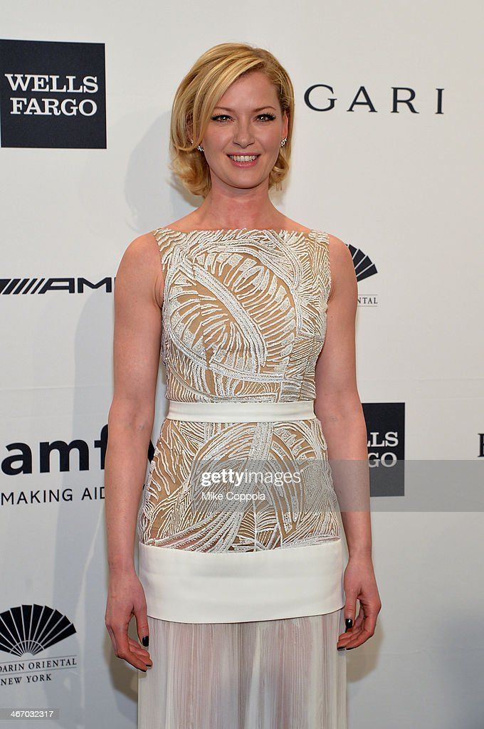 Actress Gretchen Mol attends the 2014 amfAR New York Gala at Cipriani Wall Street on February 5 2014 in New York City