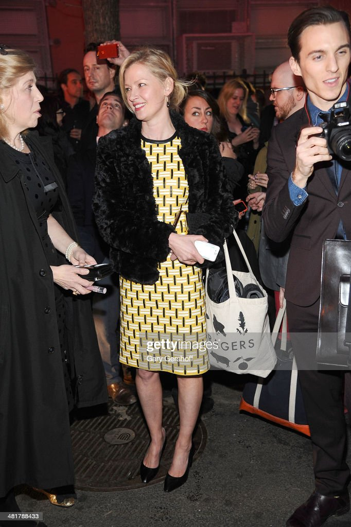 Actress <a gi-track='captionPersonalityLinkClicked' href=/galleries/search?phrase=Gretchen+Mol&family=editorial&specificpeople=206189 ng-click='$event.stopPropagation()'>Gretchen Mol</a> seen on Norfolk Street after the evacuation of Soho Rep's 2014 Spring Fete at The Angel Orensanz Foundation by the New York Fire Department on March 31, 2014 in New York City.