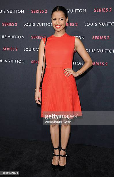 Actress Gugu MbathaRaw arrives at Louis Vuitton 'Series 2' The Exhibition on February 5 2015 in Hollywood California