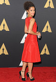 Actress Gugu MbathaRaw arrives at the Academy Of Motion Picture Arts And Sciences' Governors Awards at The Ray Dolby Ballroom at Hollywood Highland...