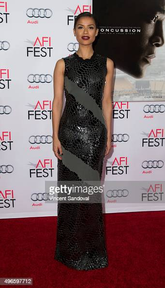 Actress Gugu MbathaRaw attends AFI FEST 2015 presented by Audi Centerpiece Gala Premiere of Columbia Pictures' 'Concussion' at TCL Chinese Theatre on...