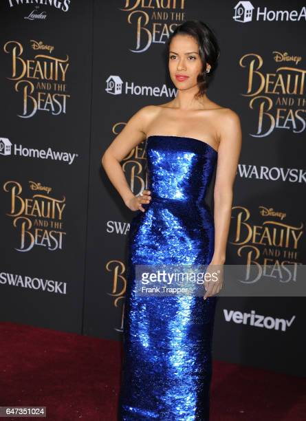 Actress Gugu MbathaRaw attends Disney's 'Beauty and the Beast' premiere at El Capitan Theatre on March 2 2017 in Los Angeles California