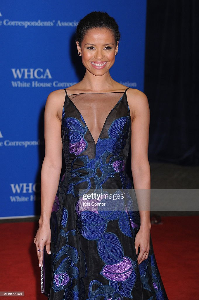 Actress <a gi-track='captionPersonalityLinkClicked' href=/galleries/search?phrase=Gugu+Mbatha-Raw&family=editorial&specificpeople=5897973 ng-click='$event.stopPropagation()'>Gugu Mbatha-Raw</a> attends the 102nd White House Correspondents' Association Dinner on April 30, 2016 in Washington, DC.