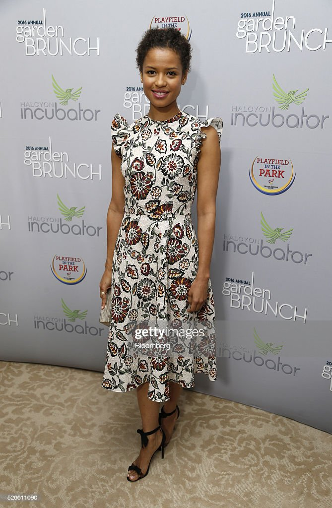Actress Gugu Mbatha-Raw attends the 23rd Annual White House Correspondents' Garden Brunch in Washington, D.C., U.S., on Saturday, April 30, 2016. The event will raise awareness for Halcyon Incubator, an organization that supports early stage social entrepreneurs 'seeking to change the world' through an immersive 18-month fellowship program. Photographer: Andrew Harrer/Bloomberg via Getty Images