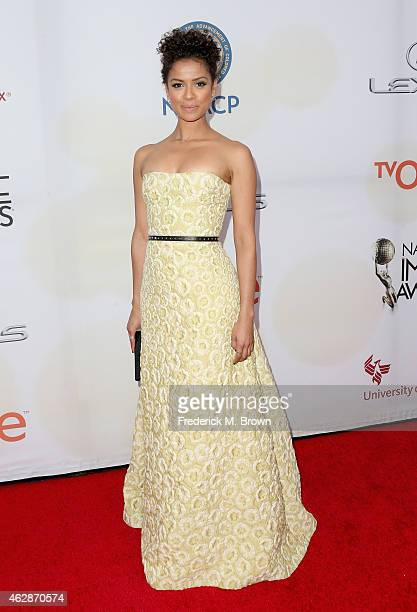 Actress Gugu MbathaRaw attends the 46th NAACP Image Awards presented by TV One at Pasadena Civic Auditorium on February 6 2015 in Pasadena California