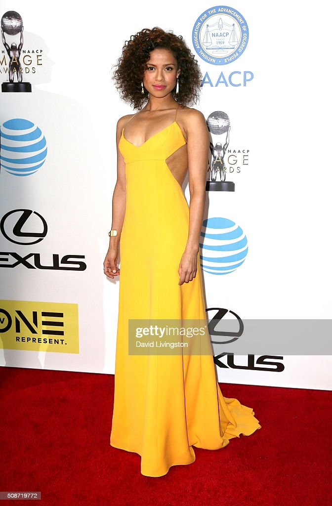 Actress Gugu Mbatha-Raw attends the 47th NAACP Image Awards presented by TV One at Pasadena Civic Auditorium on February 5, 2016 in Pasadena, California.