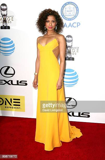 Actress Gugu MbathaRaw attends the 47th NAACP Image Awards presented by TV One at Pasadena Civic Auditorium on February 5 2016 in Pasadena California