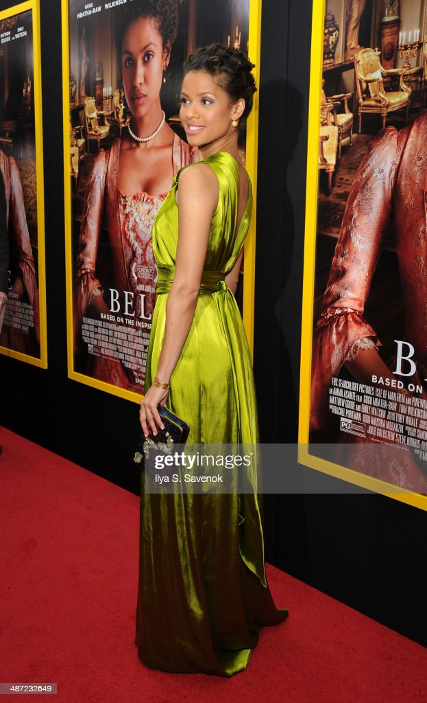 Actress Gugu Mbatha-Raw attends the 'Belle' premiere at The Paris Theatre on April 28, 2014 in New York City.