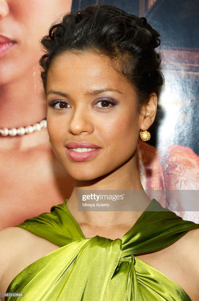 Actress <a gi-track='captionPersonalityLinkClicked' href=/galleries/search?phrase=Gugu+Mbatha-Raw&family=editorial&specificpeople=5897973 ng-click='$event.stopPropagation()'>Gugu Mbatha-Raw</a> attends the 'Belle' premiere at The Paris Theatre on April 28, 2014 in New York City.