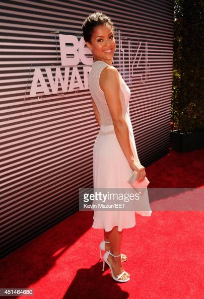 Actress Gugu MbathaRaw attends the BET AWARDS '14 at Nokia Theatre LA LIVE on June 29 2014 in Los Angeles California