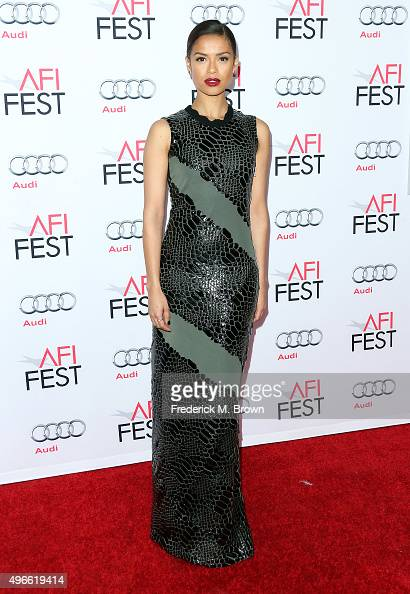 Actress Gugu MbathaRaw attends the Centerpiece Gala Premiere of Columbia Pictures' 'Concussion' during AFI FEST 2015 presented by Audi at the TCL...
