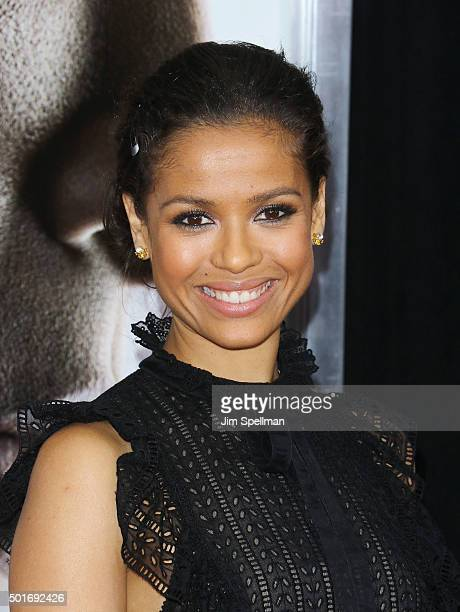 Actress Gugu MbathaRaw attends the 'Concussion' New York premiere at AMC Loews Lincoln Square on December 16 2015 in New York City