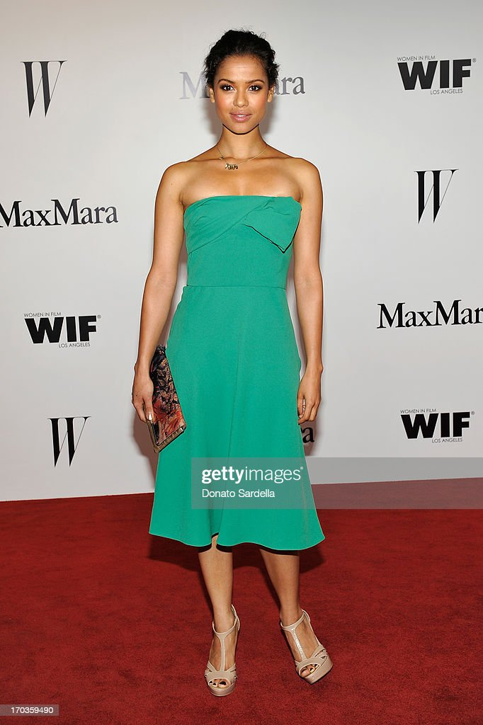 Actress <a gi-track='captionPersonalityLinkClicked' href=/galleries/search?phrase=Gugu+Mbatha-Raw&family=editorial&specificpeople=5897973 ng-click='$event.stopPropagation()'>Gugu Mbatha-Raw</a> attends the Max Mara and W Magazine cocktail party to honor the Women In Film Max Mara Face of the Future Awards recipient Hailee Steinfeld at Beverly Hills Hotel on June 11, 2013 in Beverly Hills, California.