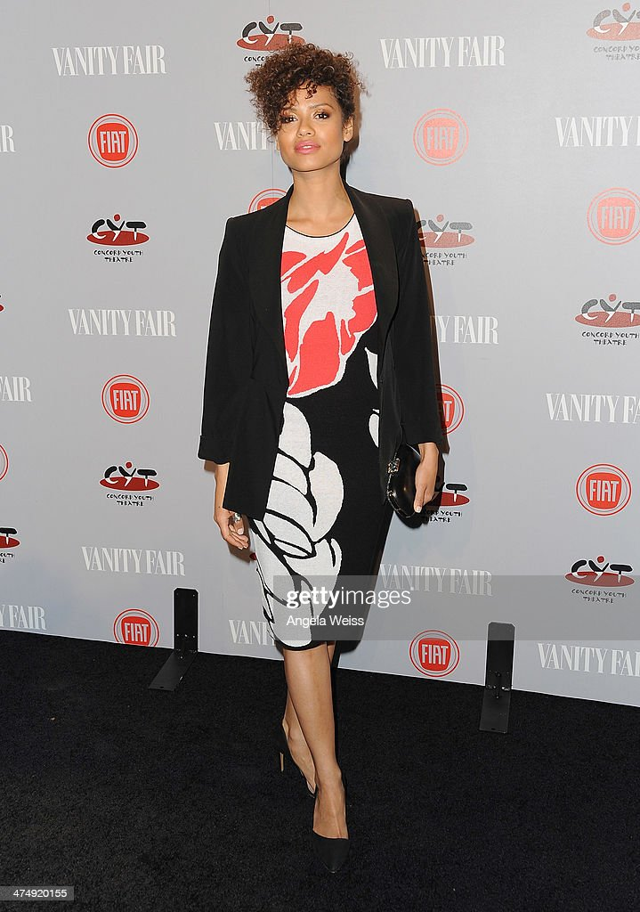 Actress <a gi-track='captionPersonalityLinkClicked' href=/galleries/search?phrase=Gugu+Mbatha-Raw&family=editorial&specificpeople=5897973 ng-click='$event.stopPropagation()'>Gugu Mbatha-Raw</a> attends the Vanity Fair Campaign Hollywood 'Young Hollywood' party sponsored by Fiat at No Vacancy on February 25, 2014 in Los Angeles, California.