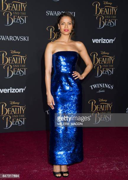 Actress Gugu MbathaRaw attends the world premiere of Disney's Beauty and the Beast at El Capitan Theatre in Hollywood California on March 2 2017 /...