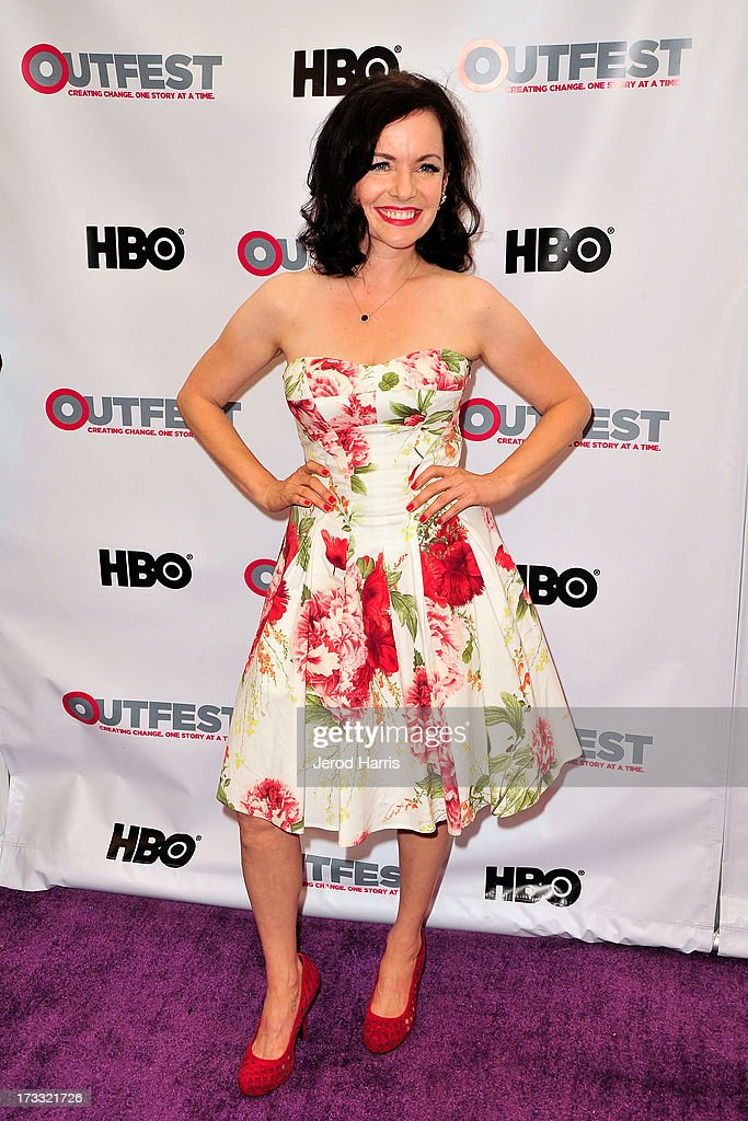 Actress <a gi-track='captionPersonalityLinkClicked' href=/galleries/search?phrase=Guinevere+Turner&family=editorial&specificpeople=693683 ng-click='$event.stopPropagation()'>Guinevere Turner</a> arrives at the Outfest Opening Night Gala of 'C.O.G.' at Orpheum Theatre on July 11, 2013 in Los Angeles, California.