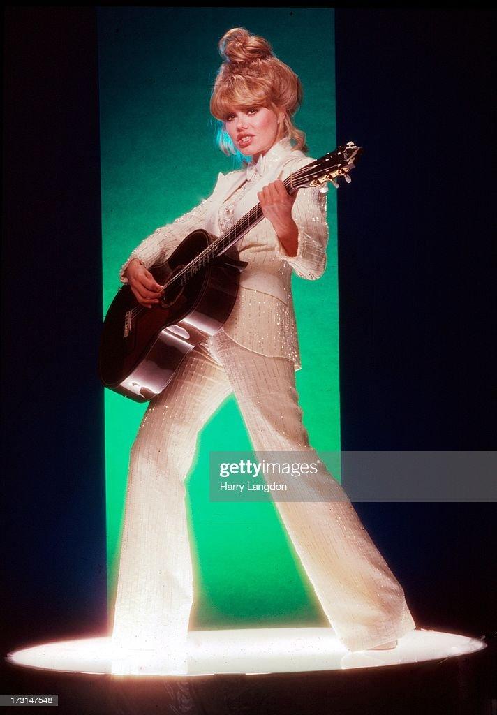 Actress guitarist and singer <a gi-track='captionPersonalityLinkClicked' href=/galleries/search?phrase=Charo&family=editorial&specificpeople=242999 ng-click='$event.stopPropagation()'>Charo</a> (María Rosario Pilar Martínez Molina Moquiere de les Esperades Santa Ana Romanguera y de la Najosa Rasten) poses for a portrait circa 1980 in Los Angeles, California.