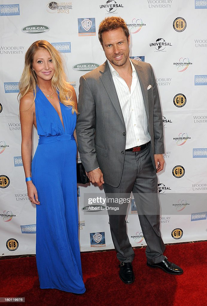 Actress Gwen Baker and actor Steve Wilder arrive for The Burbank Film Festival - Closing Night Gala Dinner and Awards Ceremony held at Castaways on September 8, 2013 in Burbank, California.