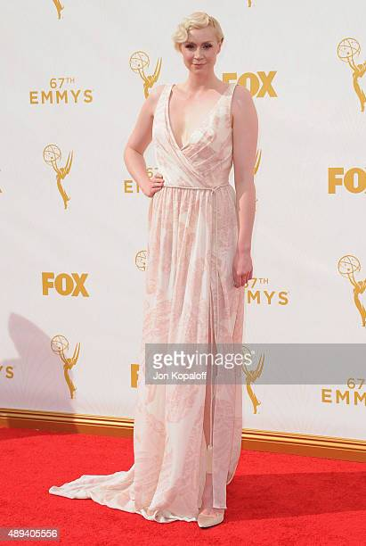Actress Gwendoline Christie arrives at the 67th Annual Primetime Emmy Awards at Microsoft Theater on September 20 2015 in Los Angeles California