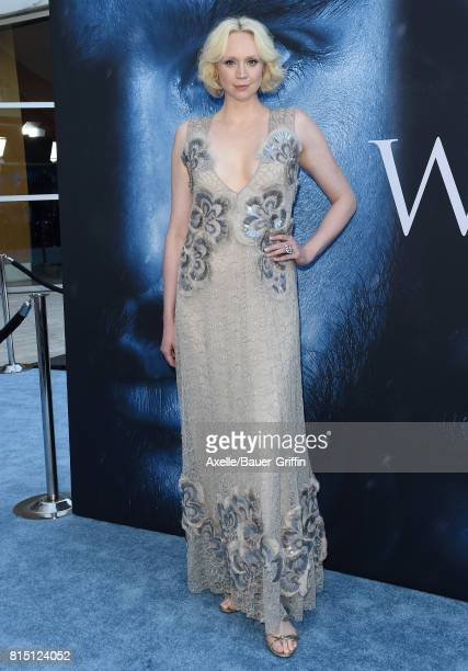 Actress Gwendoline Christie arrives at the premiere of HBO's 'Game Of Thrones' Season 7 at Walt Disney Concert Hall on July 12 2017 in Los Angeles...