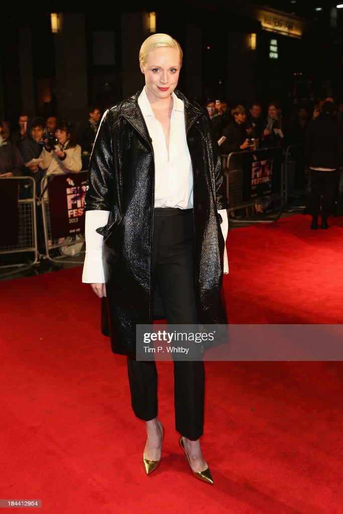 Actress Gwendoline Christie attends a screening of 'Zero Theorem' during the 57th BFI London Film Festival at Odeon West End on October 13, 2013 in London, England.