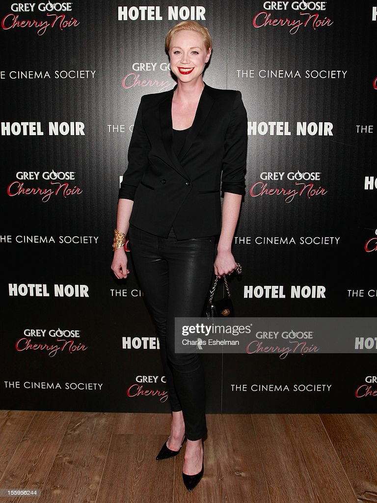 Actress Gwendoline Christie attends Gato Negro Films & The Cinema Society screening of 'Hotel Noir' at the Crosby Street Hotel on November 9, 2012 in New York City.