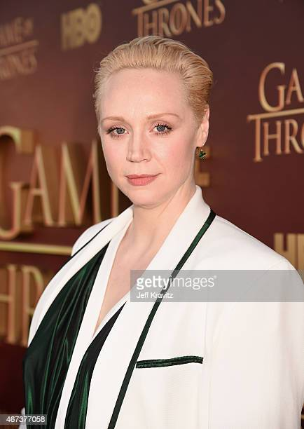 Actress Gwendoline Christie attends HBO's 'Game of Thrones' Season 5 Premiere and After Party at the San Francisco Opera House on March 23 2015 in...