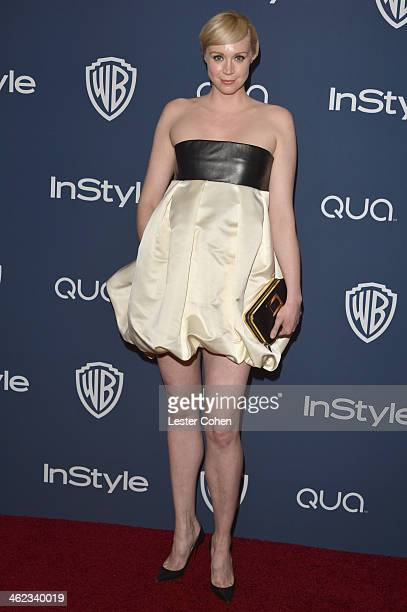 Actress Gwendoline Christie attends the 2014 InStyle And Warner Bros 71st Annual Golden Globe Awards PostParty held at The Beverly Hilton Hotel on...