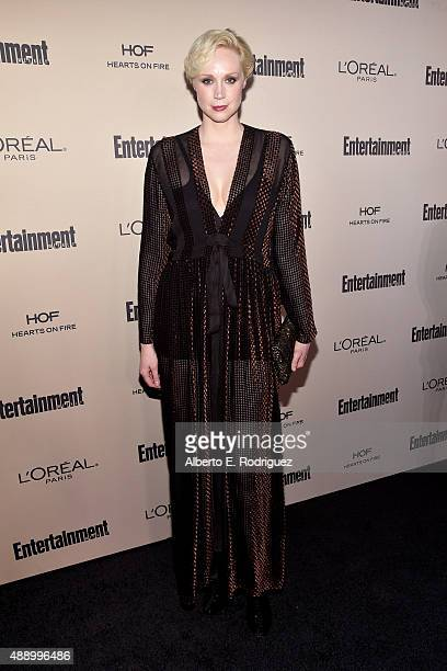 Actress Gwendoline Christie attends the 2015 Entertainment Weekly PreEmmy Party at Fig Olive Melrose Place on September 18 2015 in West Hollywood...