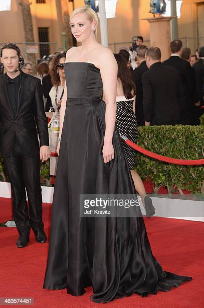 Actress Gwendoline Christie attends the 20th Annual Screen Actors Guild Awards at The Shrine Auditorium on January 18 2014 in Los Angeles California
