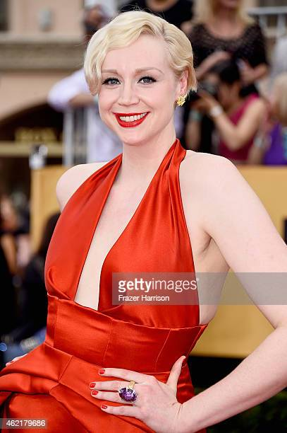 Actress Gwendoline Christie attends the 21st Annual Screen Actors Guild Awards at The Shrine Auditorium on January 25 2015 in Los Angeles California