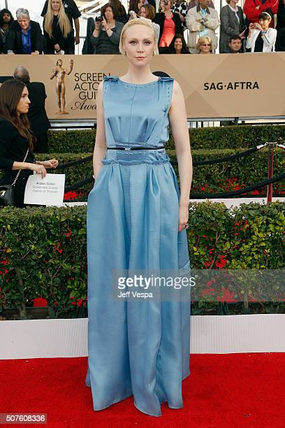 Actress Gwendoline Christie attends the 22nd Annual Screen Actors Guild Awards at The Shrine Auditorium on January 30 2016 in Los Angeles California