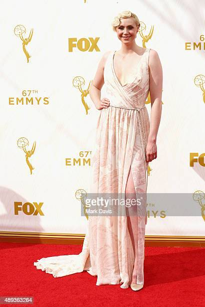 Actress Gwendoline Christie attends the 67th Annual Primetime Emmy Awards at Microsoft Theater on September 20 2015 in Los Angeles California
