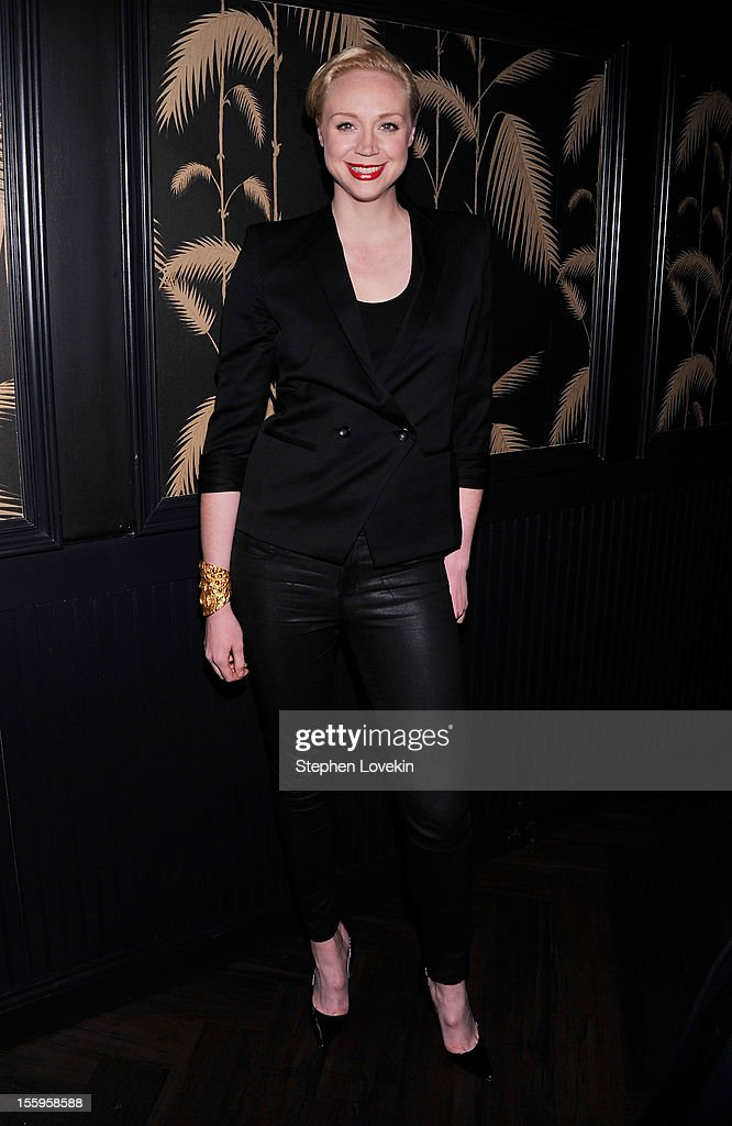 Actress Gwendoline Christie attends the after party for a screening Of 'Hotel Noir' hosted by The Cinema Society and Gato Negro Films at No. 8 on November 9, 2012 in New York City.