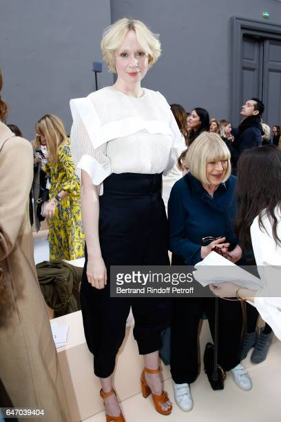 Actress Gwendoline Christie attends the Chloe show as part of the Paris Fashion Week Womenswear Fall/Winter 2017/2018 on March 2 2017 in Paris France