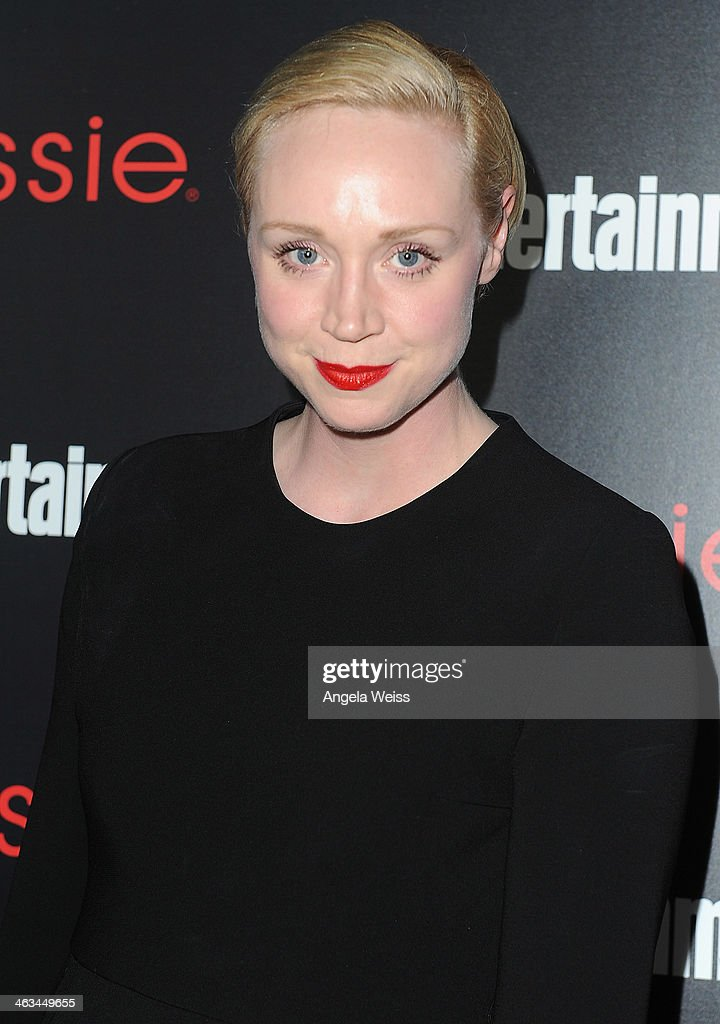 Actress <a gi-track='captionPersonalityLinkClicked' href=/galleries/search?phrase=Gwendoline+Christie&family=editorial&specificpeople=6341361 ng-click='$event.stopPropagation()'>Gwendoline Christie</a> attends the Entertainment Weekly celebration honoring this year's SAG Awards nominees sponsored by TNT & TBS and essie at Chateau Marmont on January 17, 2014 in Los Angeles, California.