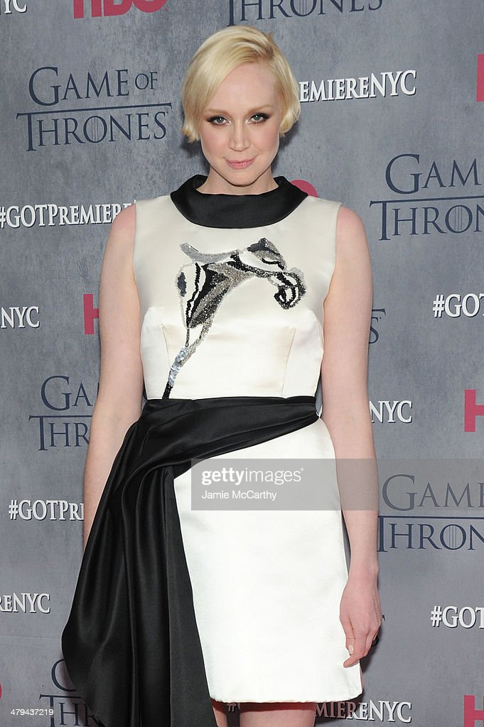 Actress Gwendoline Christie attends the 'Game Of Thrones' Season 4 New York premiere at Avery Fisher Hall, Lincoln Center on March 18, 2014 in New York City.