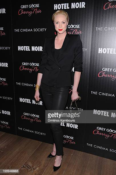 Actress Gwendoline Christie attends the Gato Negro Films The Cinema Society screening of 'Hotel Noir' at Crosby Street Hotel on November 9 2012 in...