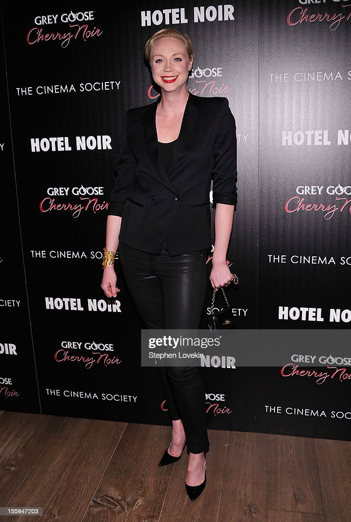 Actress Gwendoline Christie attends the Gato Negro Films & The Cinema Society screening of 'Hotel Noir' at Crosby Street Hotel on November 9, 2012 in New York City.